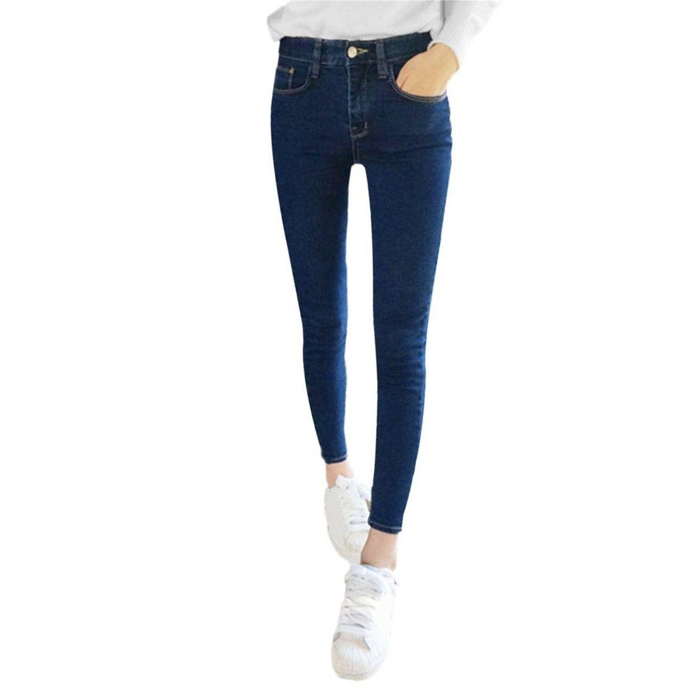 66f4b069c No Brand Women Slim High Elastic Skinny Denim Jeans High Waist Stretch  Pencil Pants