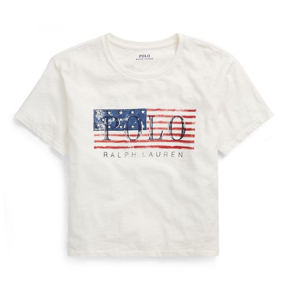 35e59547 Polo Ralph Lauren Cropped Polo Flag T-Shirt | Shirts & Tops ...
