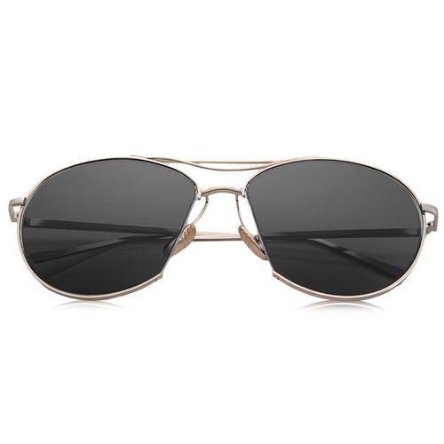 e20060d02 FSGS Gold Frame Grey Lens Simple Design Unisex Pure Color Irregular Metal  Frame Sunglasses 51821