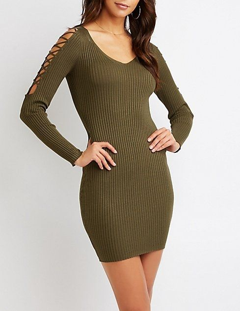 4bff69d72a3 Charlotte Russe Lattice Cold Shoulder Bodycon Dress Price in Egypt ...