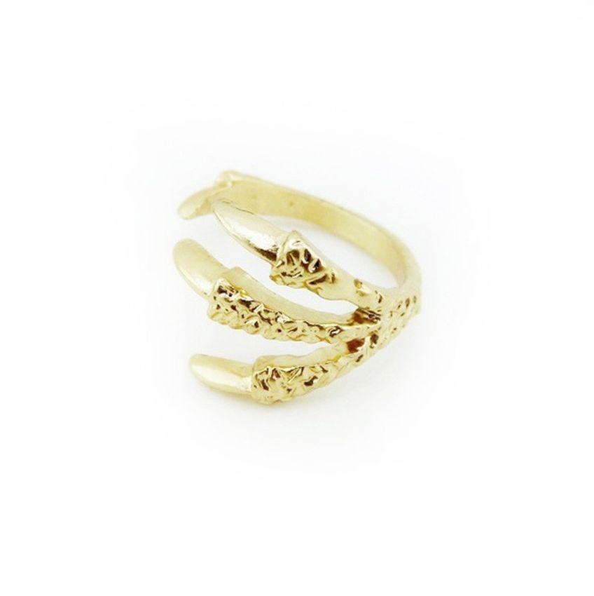 Neworldline 4 Pcs Fashion Women Talon Ring Joint Knuckle Nail Finger Rings Gift -Gold