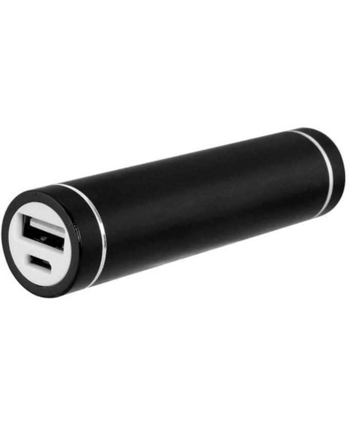 intercon 3000mAh Cylinder Mobile Power Bank - Black