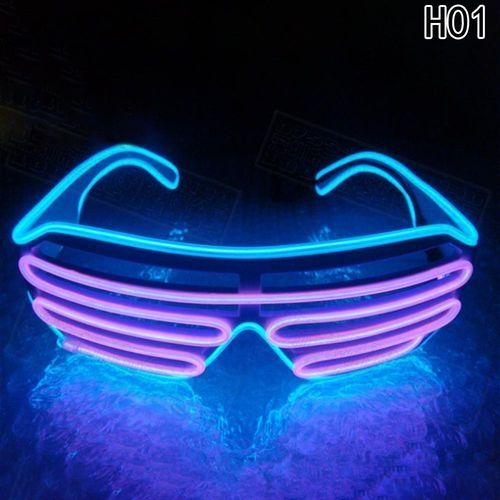 0c33c0ba5f6 Fashion LED Flashing Shutters Neon Glasses Xmas Bar DJ Light Up Eyewear  Luminous Glowing In The Dark Eye Glasses Glittering (Color  Multicolor)