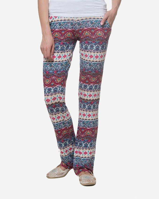 Andora Charleston Sweatpants - Dark Red