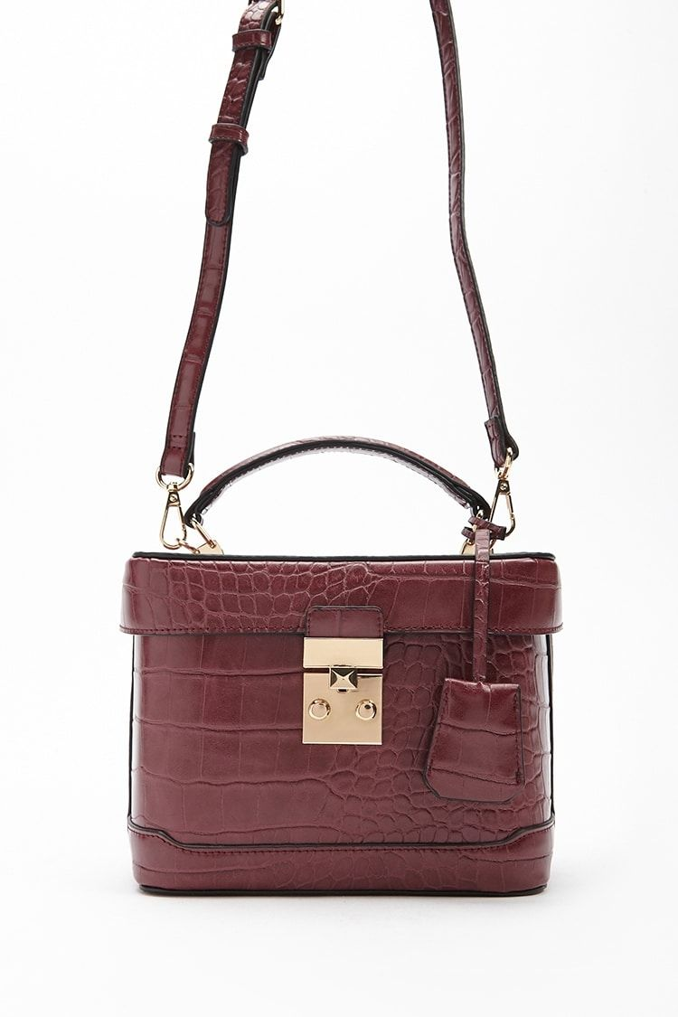 63a155203f Buy Forever21 Faux Croc Skin Crossbody in Egypt