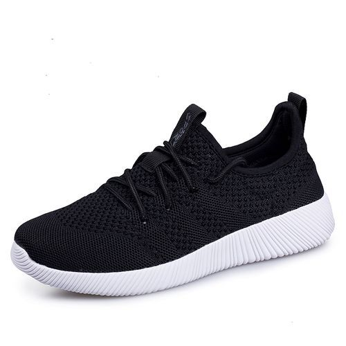 3c0c3cc89 Fashion Mens Breathable Sport Shoes Outdoor Running Jogging Shoes -Black