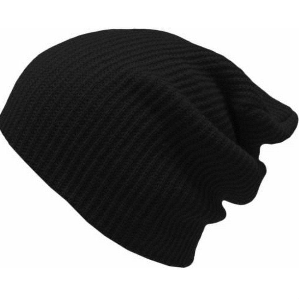 4f327ae5581 Buy Fashion Fashion Men Women Knit Baggy Beanie Oversize Winter Hat Ski  Slouchy Skull Cap Black
