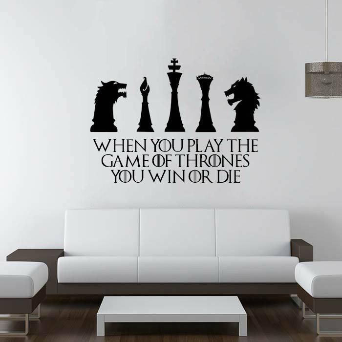 Wall Decals for Bedroom, Game of Throne Design, Home Decor ...