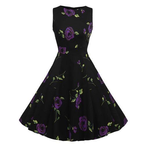 0669e2393a5 Generic O-neck Sleeveless Elegant Hebborn Vintage Floral Wear To ...