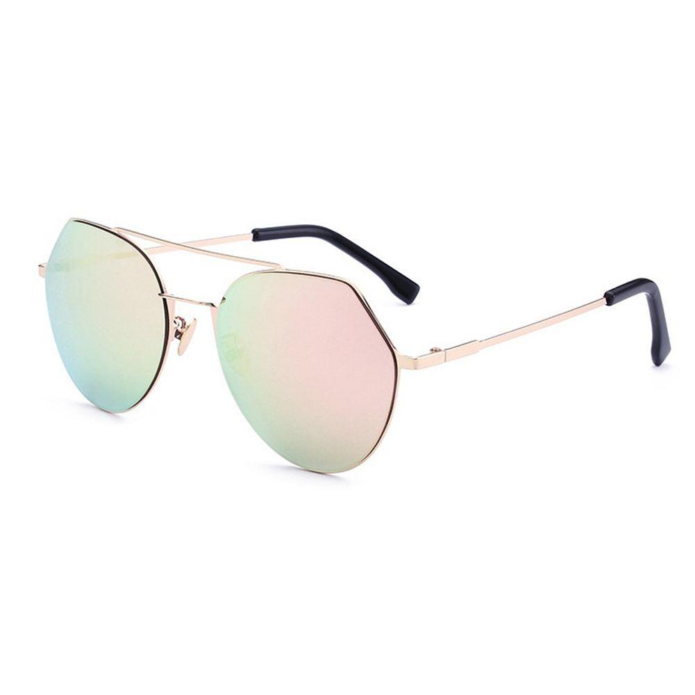 a425a5d55 Fashion New Fashion Geometry Metal Frame Sunglasses Charm Women Stainless  Steel Color Eyewear Hot Double Bridge Personality Design Eyeglasses