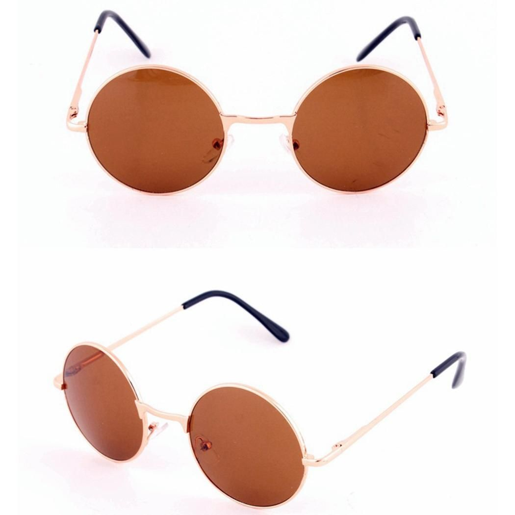 77eed1261 Sunshine Women Fashion Retro Round Mirror Lens Sunglasses Metal ...