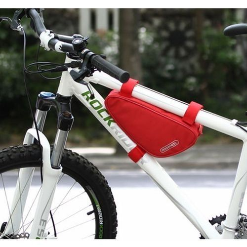 Buy Universal ROSWHEEL Cycling Bike Bicycle Top Front Frame Triangle Tube Bag Saddle Pouch Red NEW