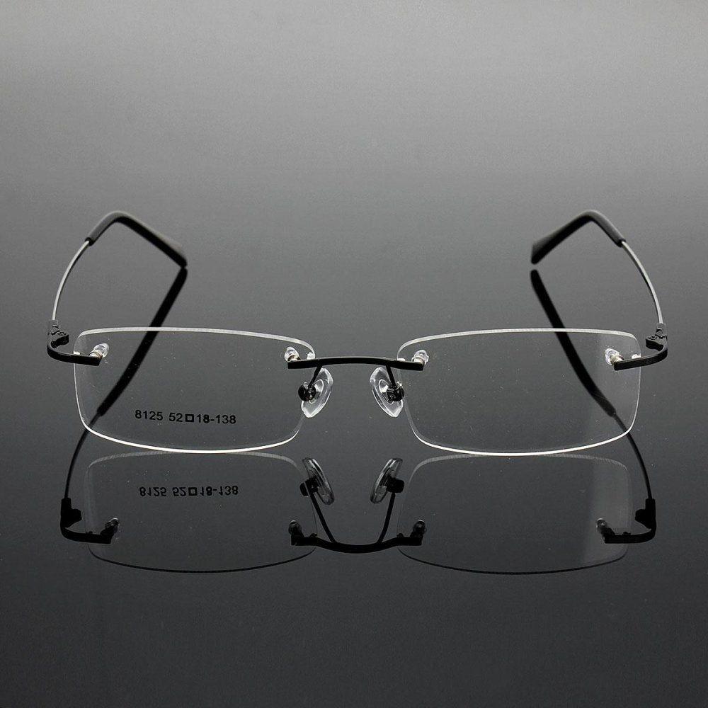 8ee26a6b5 Fashion Rimless Glasses Lightest Rx Optical Eyeglasses Memory ...