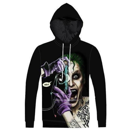 daf351681b2 Fashion Hequeen New Cartoon Design 3D Digital Printing Men And Women Hoodie  Sweater Tops