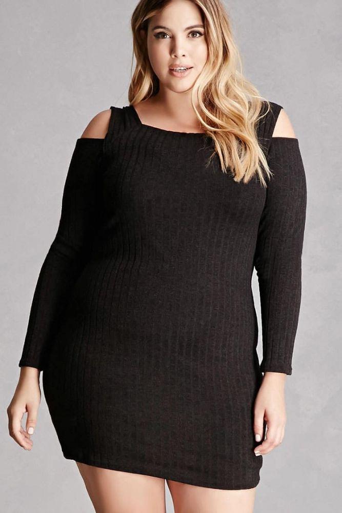 Charlotte Russe Plus Size Cold Shoulder Bustier Dress | فساتين | كان ...
