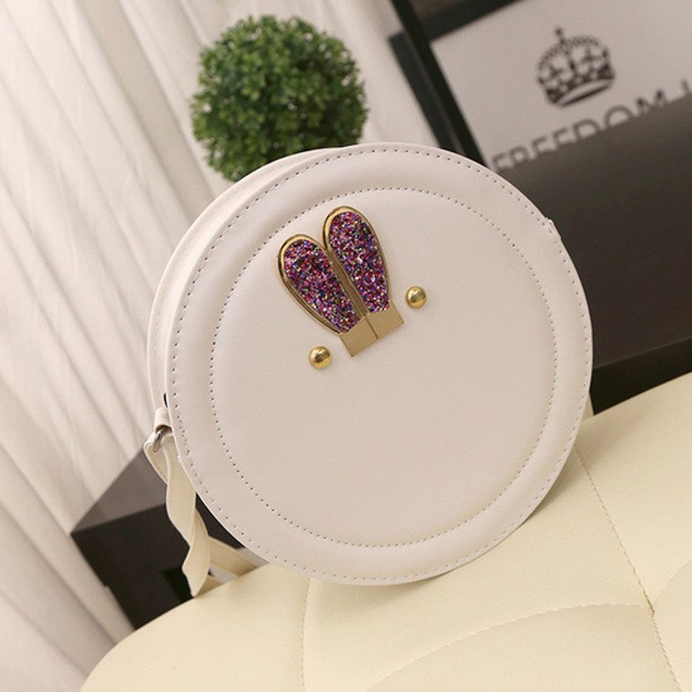 8ff9be84298a Buy Neworldline Women Girl Bling Bunny Rabbit Ear Mini Handbag Shoulder  Messenger Bag WH-White