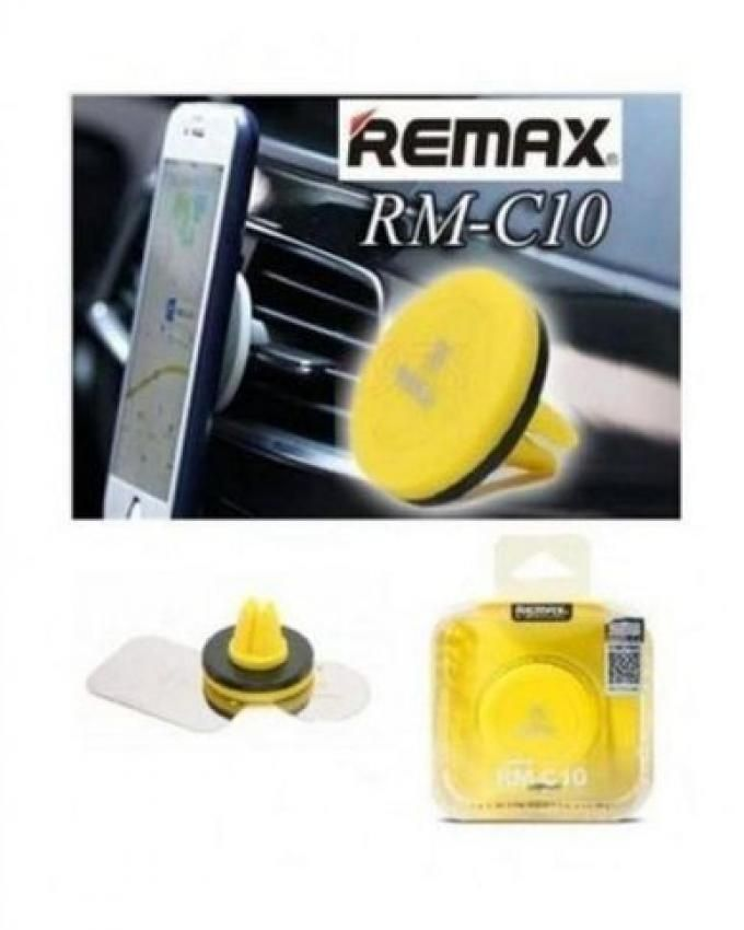 Remax RM-C10 Magnetic Car Air Vent Phone Mount Holder - Yellow