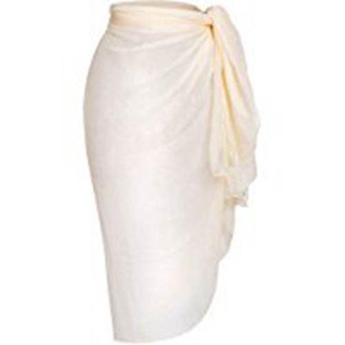 Gamiss Women Chiffon Swimsuit Wrap - White