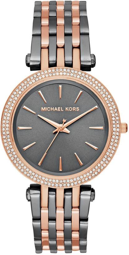 fc841ce6cae0 Michael Kors Michael Kors Women s Darci Grey Rose Gold-Tone Watch ...