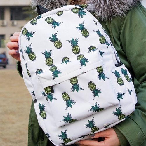 Fashion blicool travel wallet Fresh Style Women Backpacks Pineapple Print  Bookwallets Female Travel Backpack-as show 7531bd964c0e7
