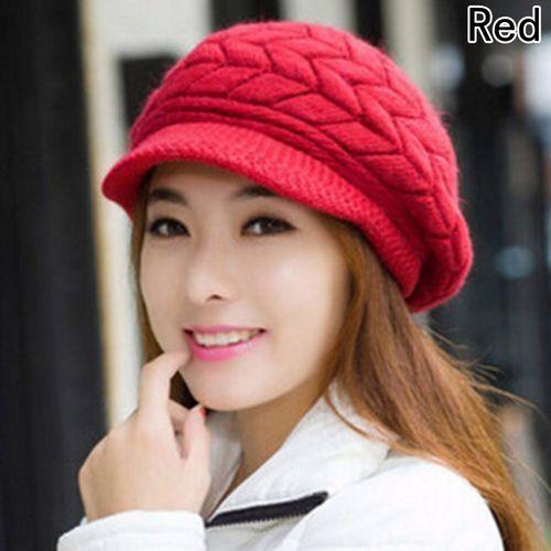 eb56513cfa5 Fashion Wonderful Fashion Womens Flower Knit Crochet Beanie Hat Winter Warm  Cap Beret
