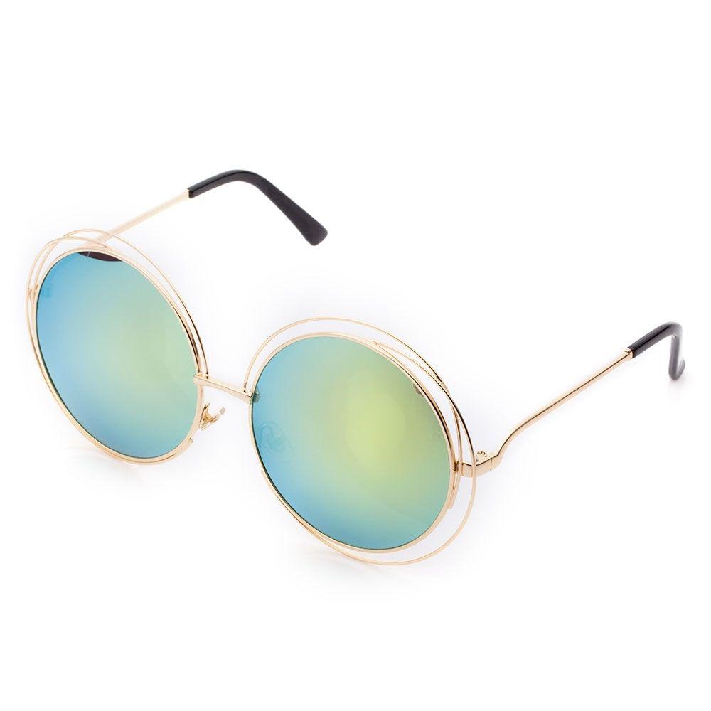04ff0267b6 Fashion Hollow Round Wire Frame Sunglasses Eyewear UV400 Protection ...