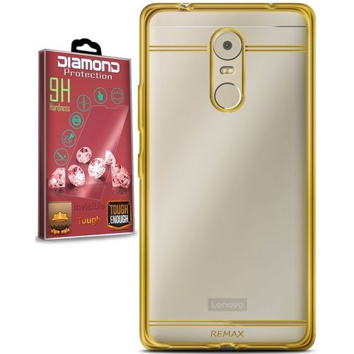 Prime Glowing Silicone Cover For Lenovo K6 Note - Clear\Silver +