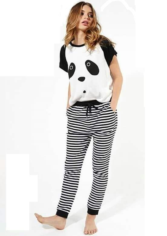 8d8de6ceda83 سعر Trendy Women s pajamas printed - Black x white فى مصر