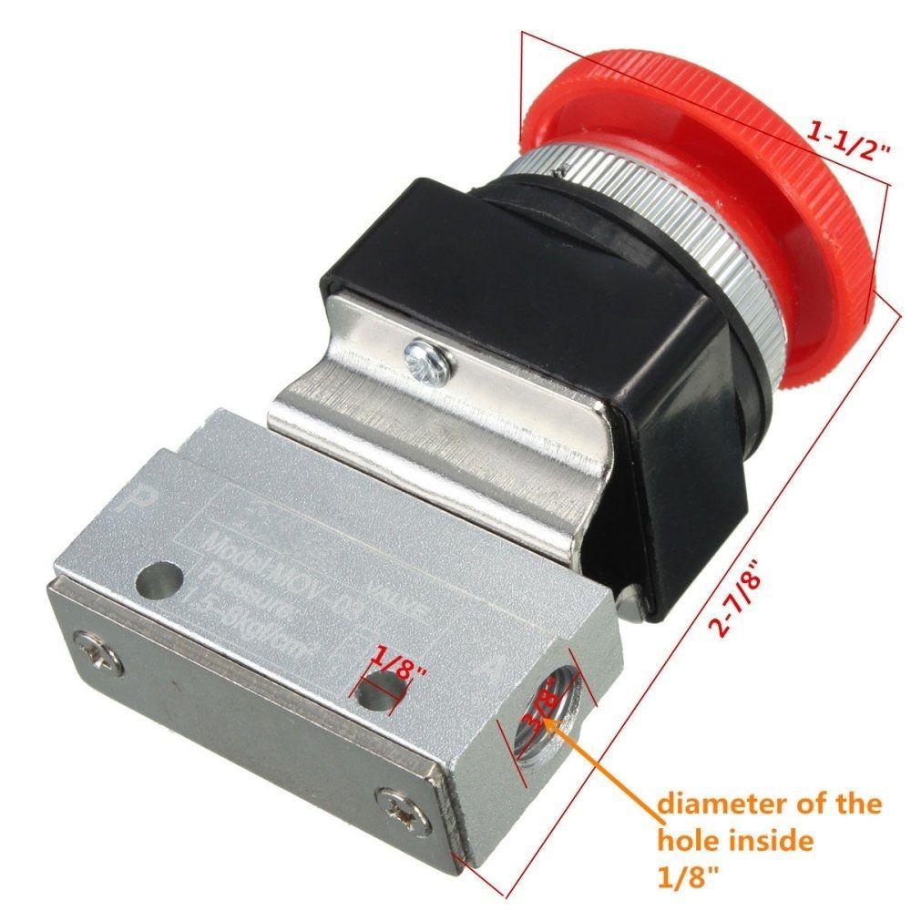 Universal 2 Way Position 1 8 Thread Push Button Switch Pneumatic Mechanical Valve Tool