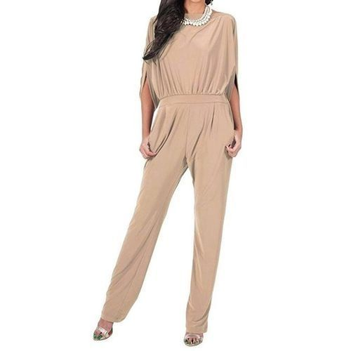 3b5a43cbd37 Buy Fashion Plus Size S-2XL Womens Cage Sleeve Formal Long Playsuit Jumpsuit  Romper Overalls