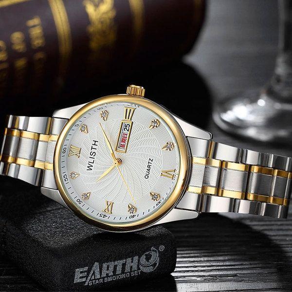 745343ae94e6a OEM ساعة رجالية مصنوعة من الفولاذ المقاوم للصدأ كوارتز مقاوم للماء لون أبيض