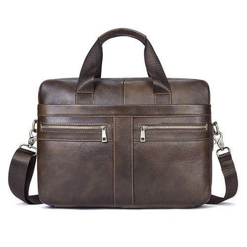 a104fad08d0 Generic Vintage Men Genuine Leather Handbag Business Briefcase ...