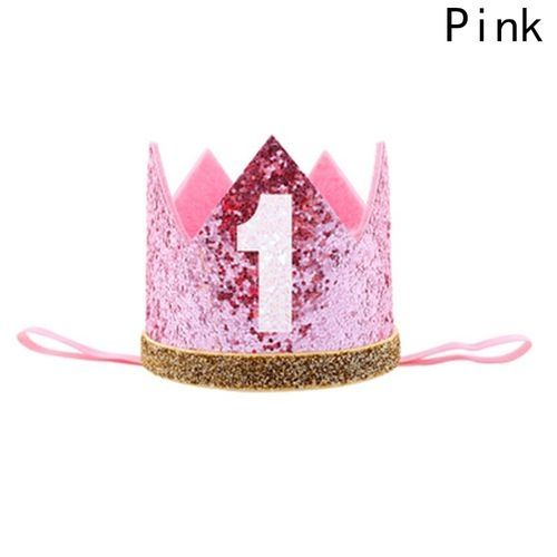 Universal Floral Fall Baby Girl And Boy 1st Birthday Hat Photo Prop Sparkly Gold Crown Elastic Headbands