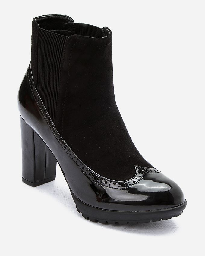 25d48c85a29e Joy   Roy Bi-Material Heeled Boot - Black Price in Egypt