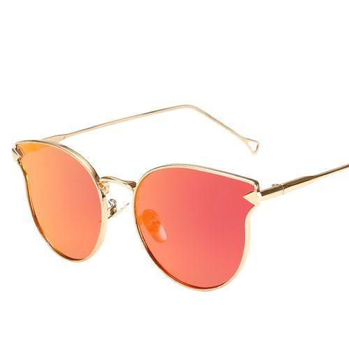 8f3e2305fb Eissely Woman Men Fashion Cat Vintage Metal Frame Mirror Sunglasses  Sunglasses
