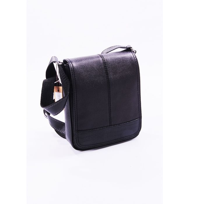 7cbbf792f3da3 سعر Leather Shop شنطة كروس جلد طبيعي - اسود فى مصر