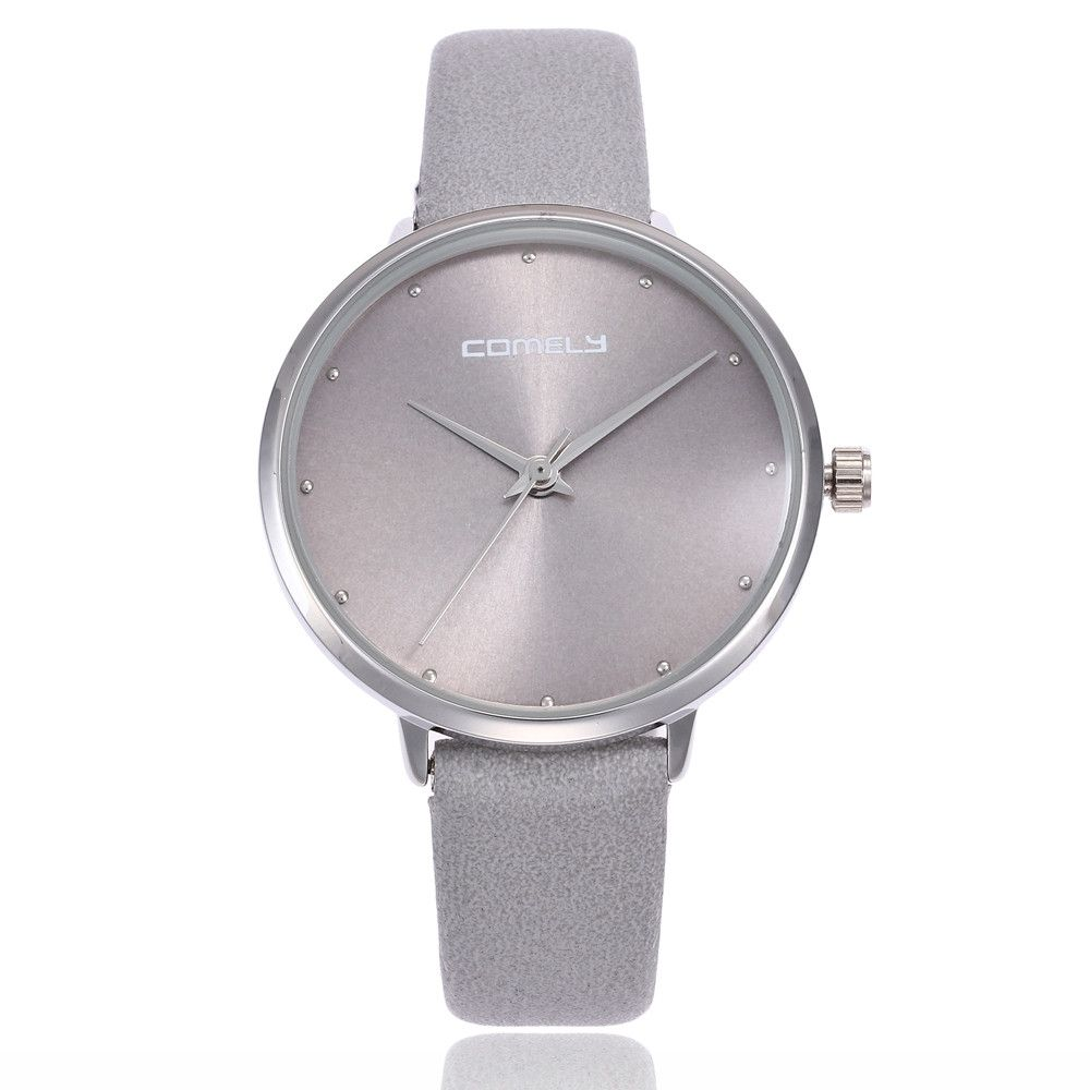 47f2bd2fd Generic Women Men Fashion Leather Band Analog Quartz Round Wrist Watch  Watches-Gray
