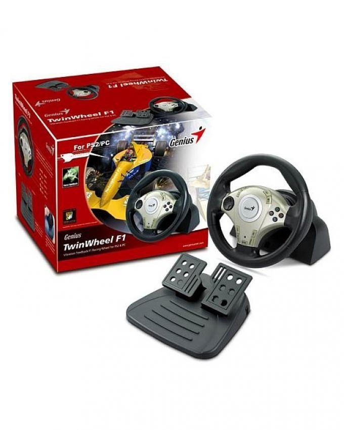 Genius Twin Wheel F1 Racing Wheel Drivers PC