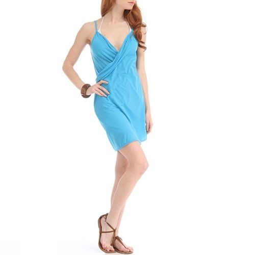 As Seen on TV Cross Front Beach Cover Up - Sky Blue