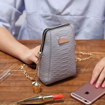 e0678949d182 Buy Generic Fashion Women Ini Vertical PU Storage Shoulder Bag Phone Wallet  With Metal Chain For