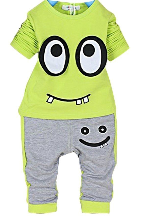 c70c7b842bea Sunweb 2PCS Baby Boys Girls Infant Suit Kids Long Sleeve Tops + ...