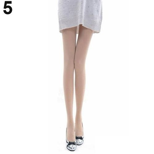 6826767687f Sanwood Women Fashion Pure Color 120D Opaque Footed Tights Sexy Pantyhose  Stockings Socks-Tan