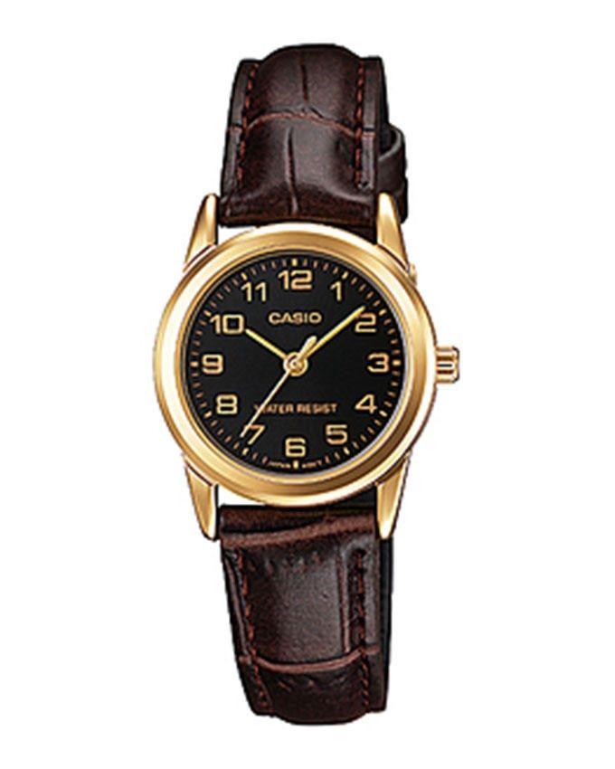 d80c62181 سعر Casio LTP-V001GL-1B Leather Watch - Brown/Gold فى مصر | جوميا ...
