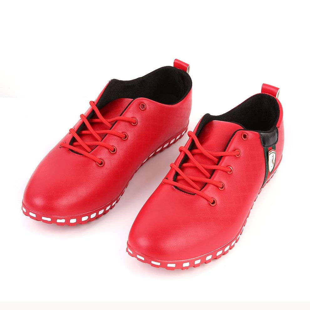 Fashion Trendy Stylish Men's Synthetic Leather Shoes Lace Up