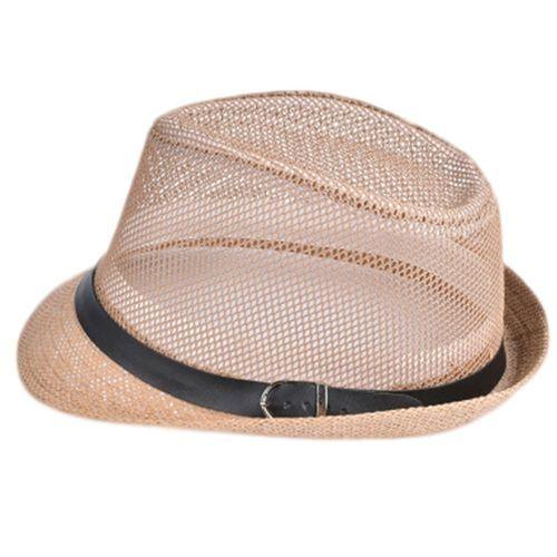0496255f8 Fashion Men Fashion Straw Hat Hollow Out Wide Brim Caps Foldable ...