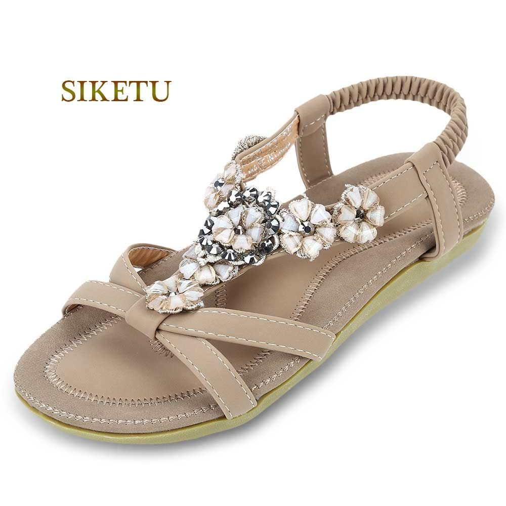 58da7805f3e Siketu Women Bohemia Gladiator Sandals - Apricot. updating Prices