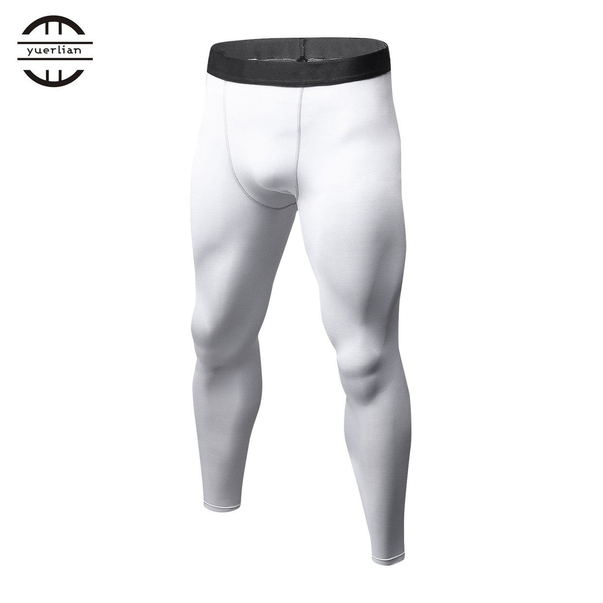 ce37a6b6be Generic Men Solid Color Compression Pants Tights Casual Bodybuilding ...