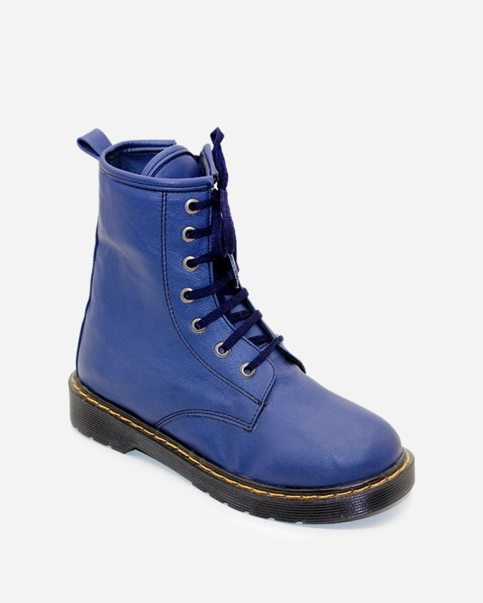 Tata Tio High Top Padded Combat Half Boot - Blue