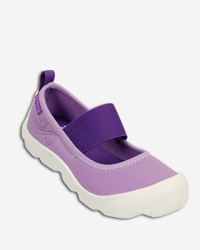 1a24715e310c Crocs Duet Busy Day Mary Jane PS-Iris Neon Purple