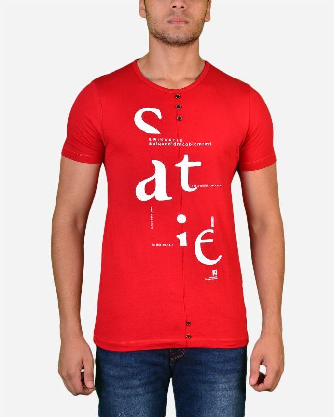 Town Team Chest Logo V Tshirt - Red